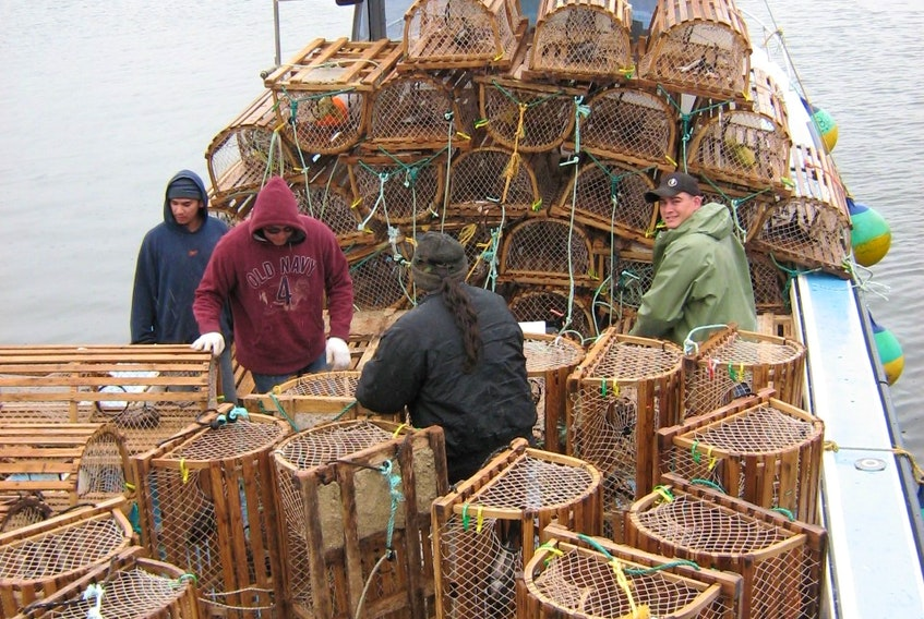 Mi'kmaq fishers catch lobster for moderate livelihood fishery in this file photo. Contributed