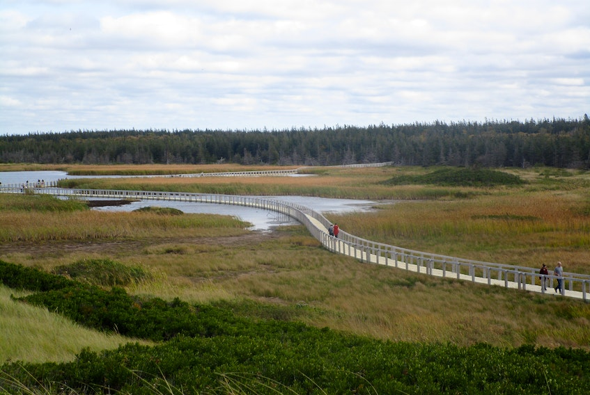 P.E.I. National Park at Greenwich includes a boardwalk over marshlands leading to dunes and a white sand beach. Marlene Bryenton/Special to The Guardian
