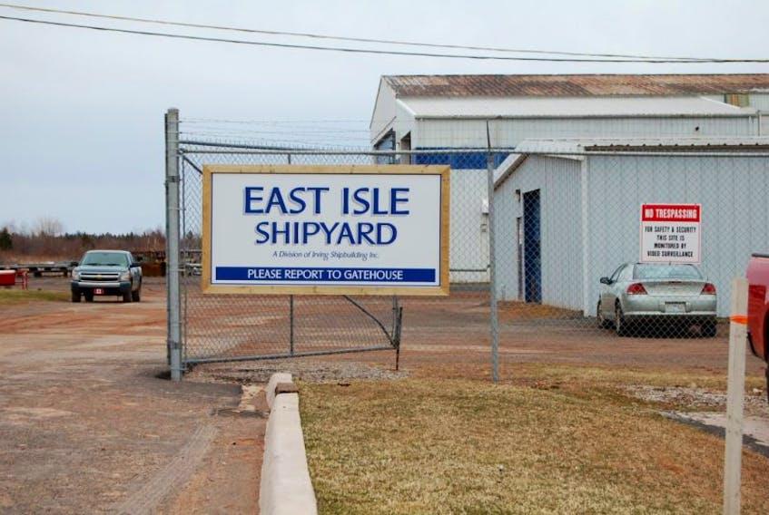 The East Isle shipyard in Georgetown. File photo