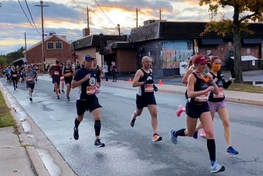 The Halifax Road Hammers running club plans to rack up more than 14,000 kms in 30 groups of four in the #StridesForShelter campaign to raise funds and awareness around the city's rising rate of homelessness.