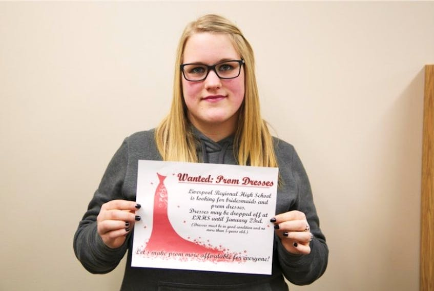 Hannah LeBlanc, a Grade 12 student at LRHS is one of the organizers looking to have a used prom dress and formal wear sale to raise money for Safe Grad.