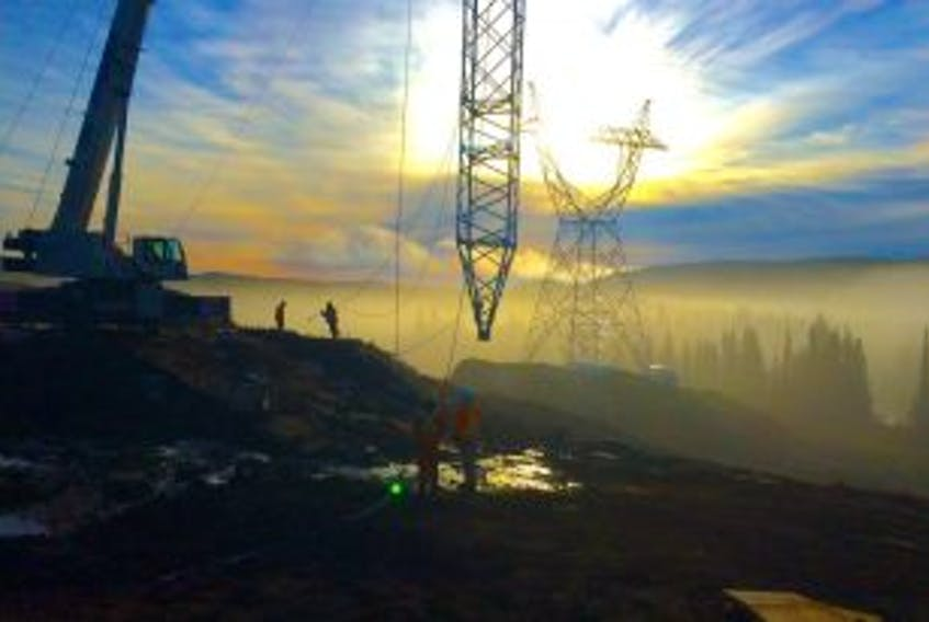 ['<p>Progress on the HVdc transmission line (the Labrador-Island Transmission Link).</p>']