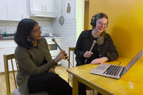 Sweta Daboo, left, and Emma Drake host Dialogue with Drake and Daboo, a podcast discussing politics, policy and pop culture.