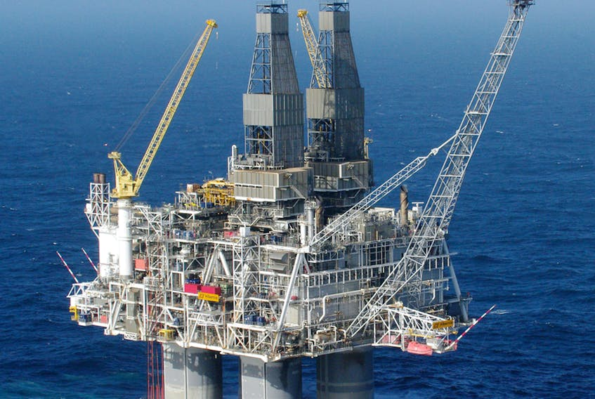Production has continued at the Hibernia site, but drilling has been halted to reduce costs. — Contributed