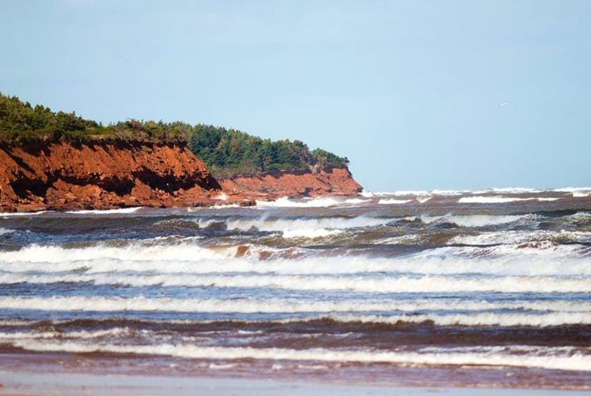 Surf conditions were rough along the Island's north shore due to strong winds.