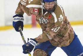 Lane Hinkley of the Toronto Marlboros during a Greater Toronto Hockey League game last season. The Cheticamp product is ranked in the third-round for the Quebec Major Junior Hockey League Entry Draft this weekend. CONTRIBUTED