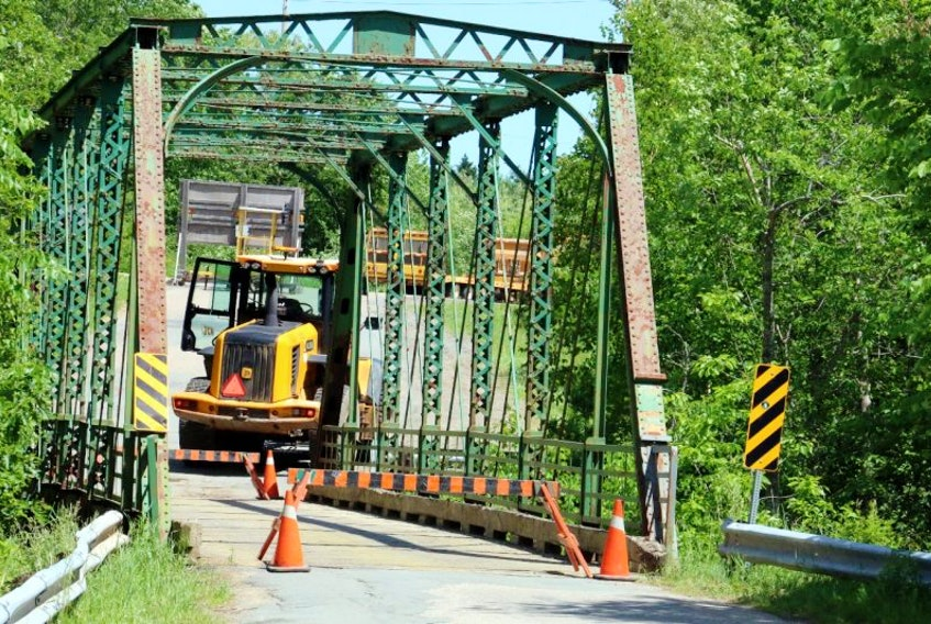On June 22, the one-lane bridge on Bog Road in Mount Denson was closed to traffic. Department of Transportation and Infrastructure officials are reviewing its structural integrity.