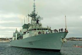 File photo of HMCS Ville de Quebec. Canadian Forces photo.
