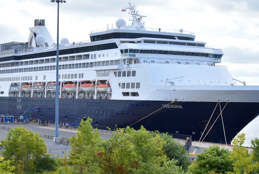 In this August 2018 file photo, Holland America's Veendam is shown docked at the port in Sydney. The ship was among four vessels sold by the Seattle-based company last week. NANCY KING/CAPE BRETON POST