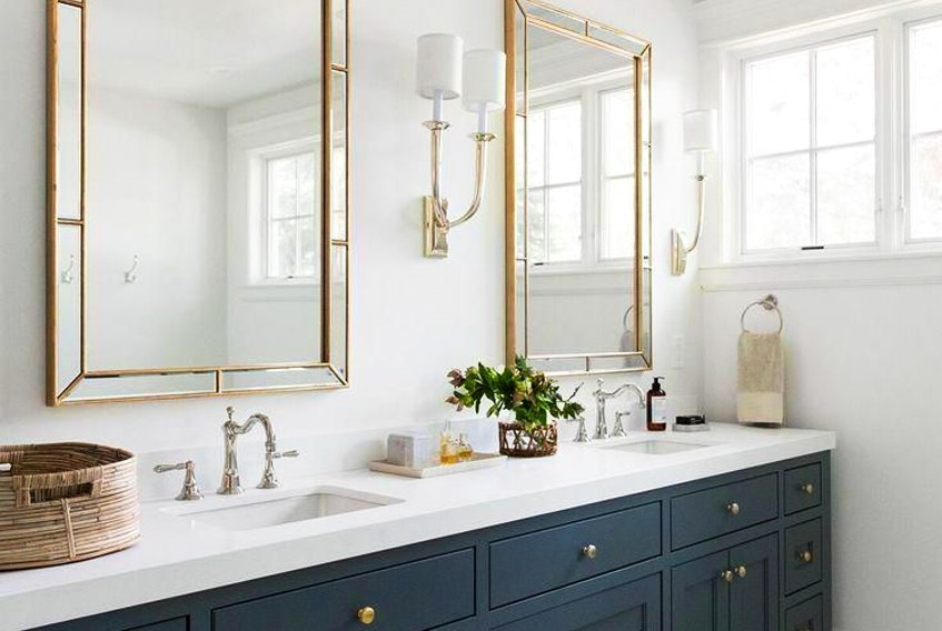 A well-dressed vanity should immediately suggest order and cleanliness.