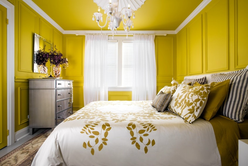 The client suggested zingy yellow, but, following discussion, Colin and Justin moderated their vision by turning the sun factor down to warm mustard.