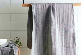 Something as simple as a new bath towel can take the humdrum out of daily routine while spending time at home. Charcoal-infused bath towel, $70, Simons.ca. CONTRIBUTED