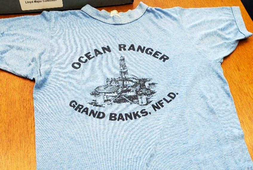 The Ocean Ranger shirt David Boutcher gave his brother Jeff.