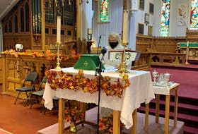 """""""I doubt if there's been anybody who hasn't had some kind of question about faith during this time,"""" says Rev. Gail MacDonald at St. Thomas' Anglican Church in St. John's, NL."""