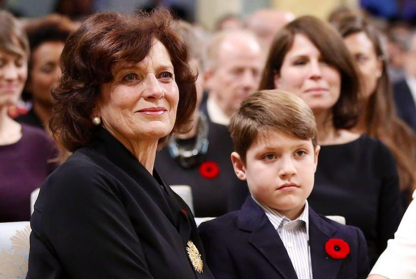 Margaret Trudeau with grandson Xavier in 2015.