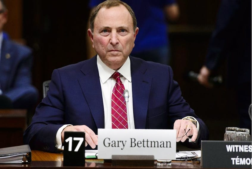 NHL commissioner Gary Bettman appears before the Commons Subcommittee on Sports-Related Concussions on Parliament Hill in Ottawa on Wednesday, May 1, 2019.
