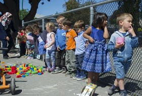 Children play at Novaco Daycare in North Vancouver.