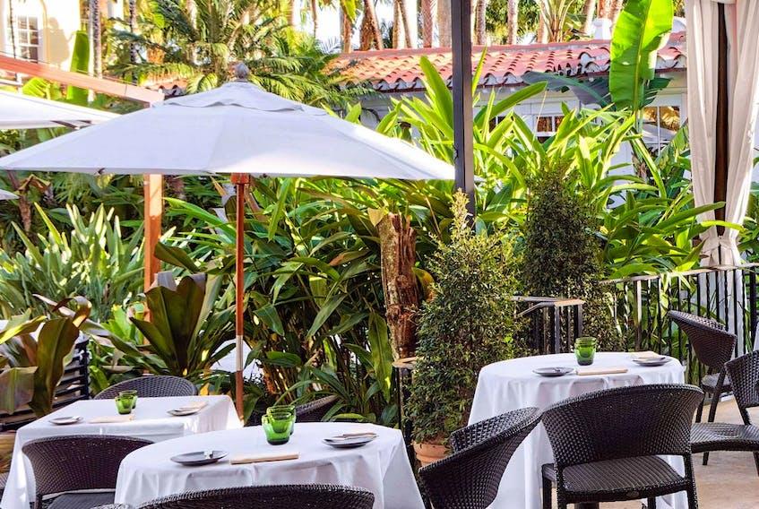 The Brazilian Court hotel is a hospitality landmark of glamorous Palm Beach, Florida.
