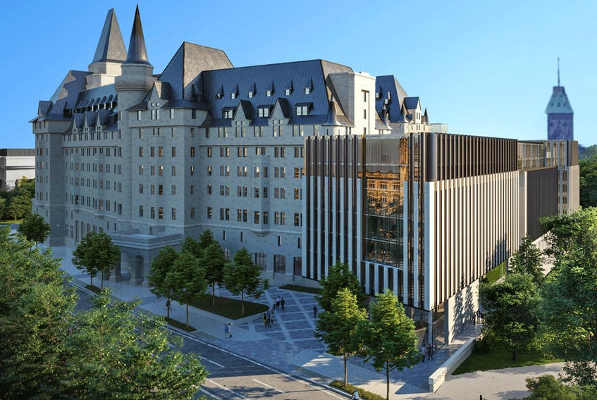 The latest design for a proposed addition to Ottawa's historic Chateau Laurier has been described as a shipping container, a radiator and an air-conditioning unit.
