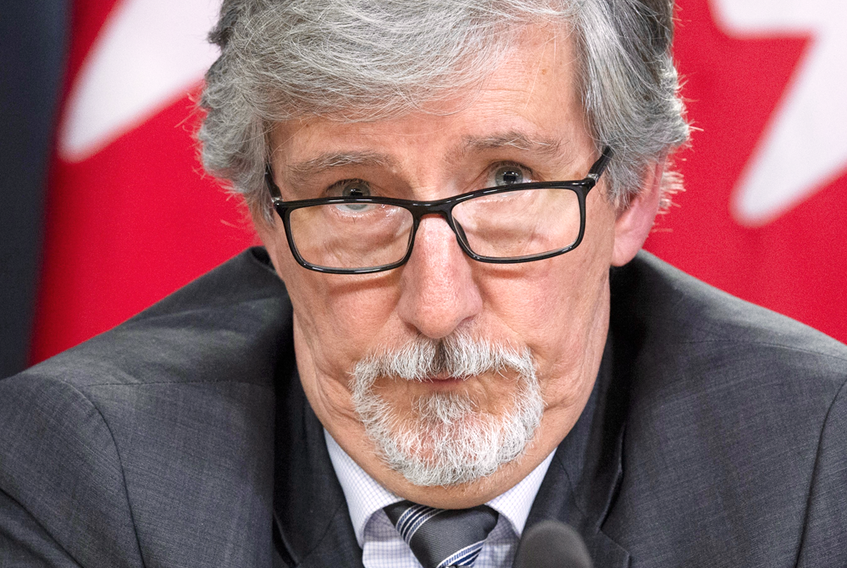 Federal Privacy Commissioner Daniel Therrien speaks during a news conference, April 25, 2019 in Ottawa.