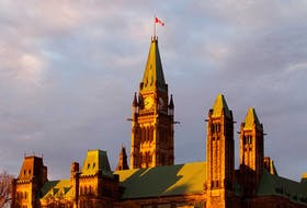 Parliament buildings in Ottawa.