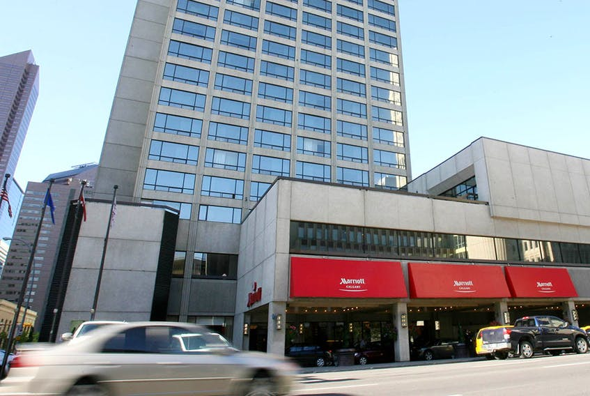 The Marriott Hotel in downtown Calgary.