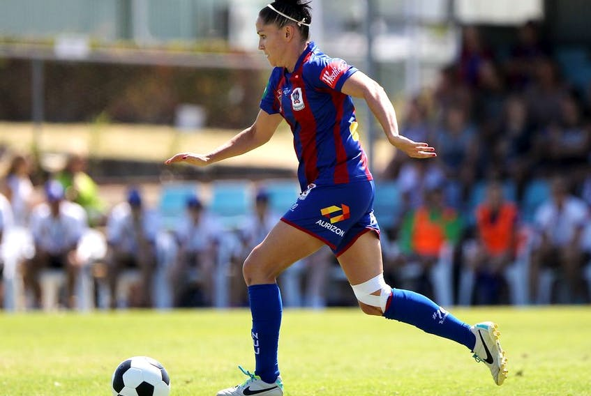 Ciara McCormack in action for the Newcastle Jets of Australia's W-League in February 2014.