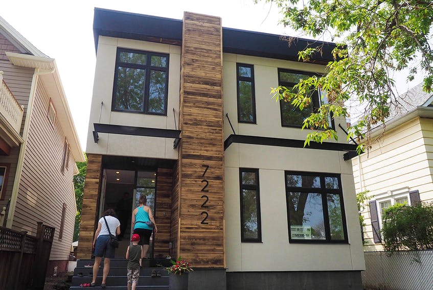This looks like a regular home, except this home in the Queen Alexandra neighbourhood is built out of repurposed shipping containers.