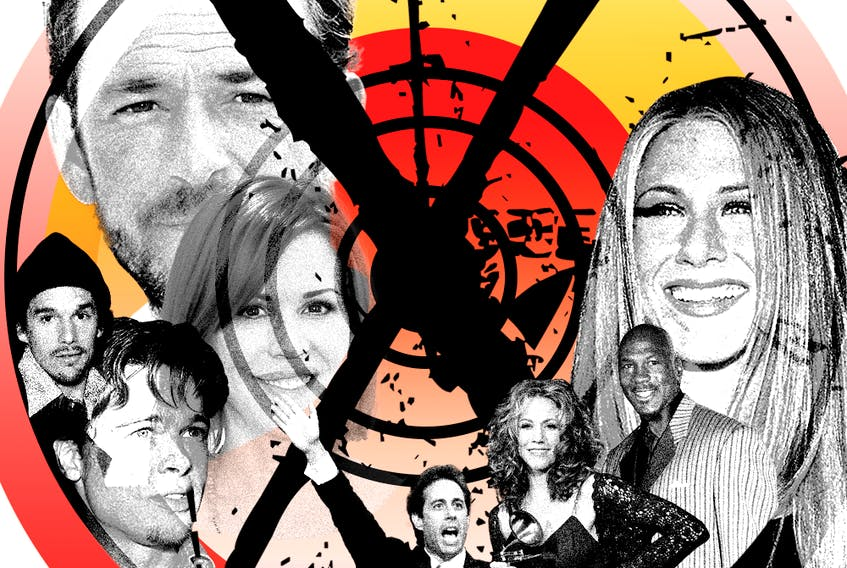 An illustration of celebrities emblematic of Generation X.