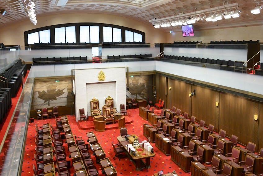 The Senate Chamber in Ottawa.