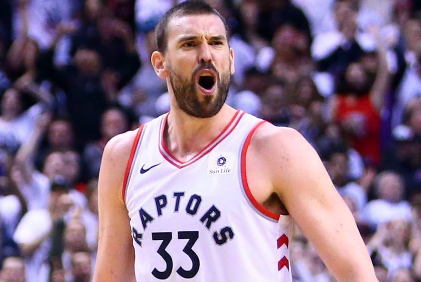 Marc Gasol of the Toronto Raptors. (VAUGHN RIDLEY/Getty Images)