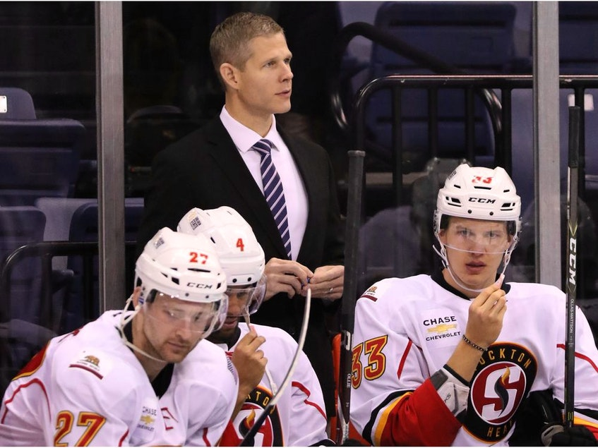 Cail Maclean off the bench with Stockton Heat.  - Jack A.  lima