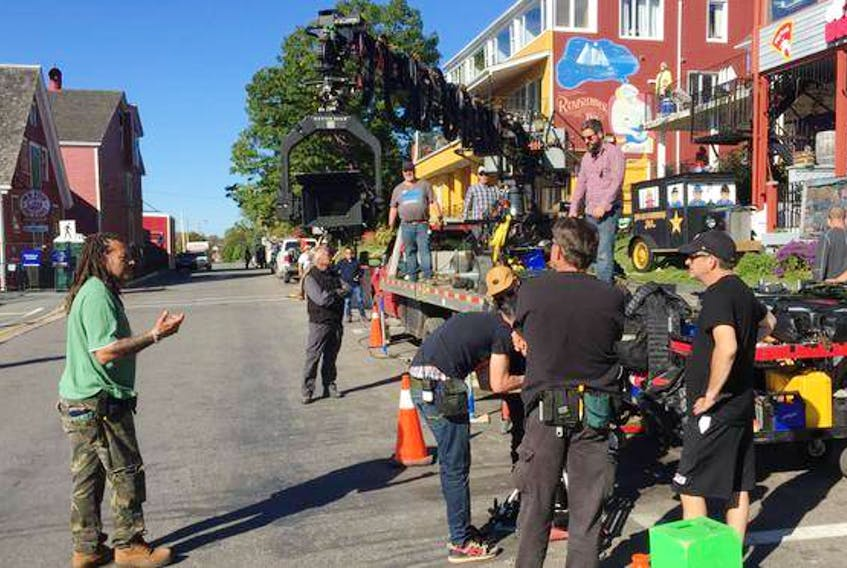 A production team has been busy at work in Lunenburg since Tuesday shooting a TV pilot based on a graphic novel by Stephen King's son Joe Hill. (ANDREW RANKIN /THE CHRONICLE HERALD)