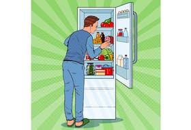 hungry man stock illustration