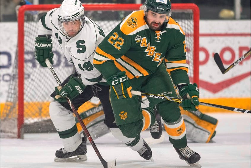 The University of Alberta Golden Bears defeated the University of Saskatchewan Huskies 1-0 in Game 3 of the Canada West men's hockey championship final Sunday, March 3, 2019.