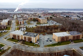 A drone's-eye view of apartment buildings in north-end Dartmouth, taken Wednesday, Nov. 25, 2020.