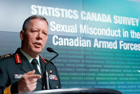 Chief of the Defence Staff Gen. Jonathan Vance speaks during a news conference on the findings of the Statistics Canada Survey on Sexual Misconduct in the Canadian Armed Forces in Ottawa on Nov. 28, 2016.