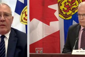 Federal Public Safety Minister Bill Blair and Nova Scotia Justice Minister Mark Furey via teleconference announce an independent review into the circumstances surrounding the Nova Scotia mass shooting and police response Thursday, July 23, 2020.
