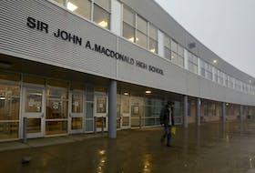 Sir John A. Macdonald High School in Upper Tantallon, N.S., has announced that the school will change its name.....seen Thursday Nov. 12, 2020.