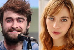Daniel Radcliffe, most famous for his title role in the Harry Potter movie franchise, and his longtime girlfriend Erin Darke  (Good Girls Revolt, The Marvelous Mrs. Maisel). - Gage Skidmore via Wikimedia, CBC handout