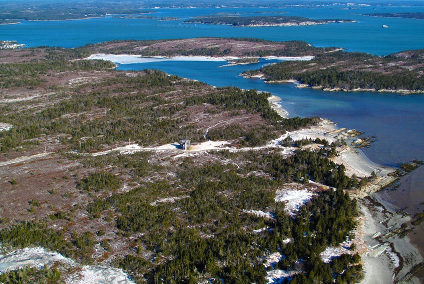 Owls Head Provincial Park Reserve and Long Cove (private land in foreground).  - Vision Air
