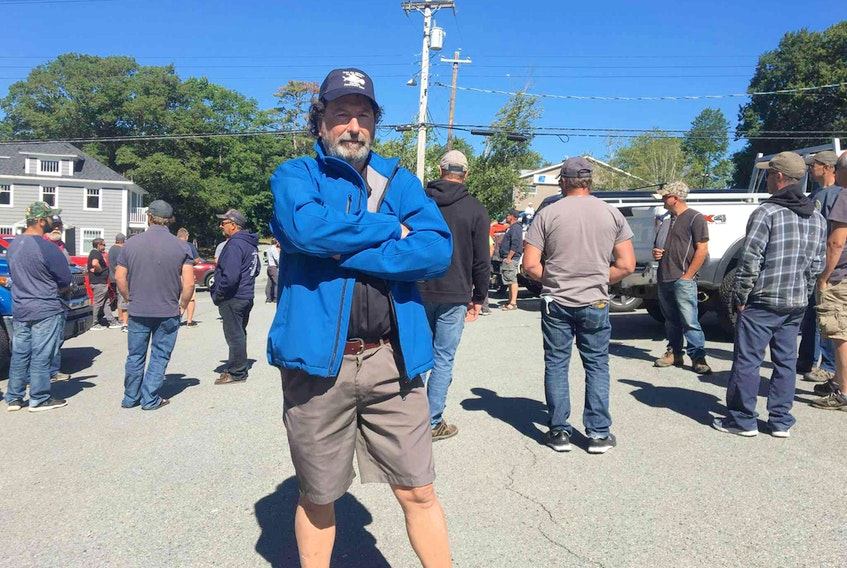 Roger Leblanc of Metghan worries about the future of the lobster fishery in which three generations of his family have made their livelihood.