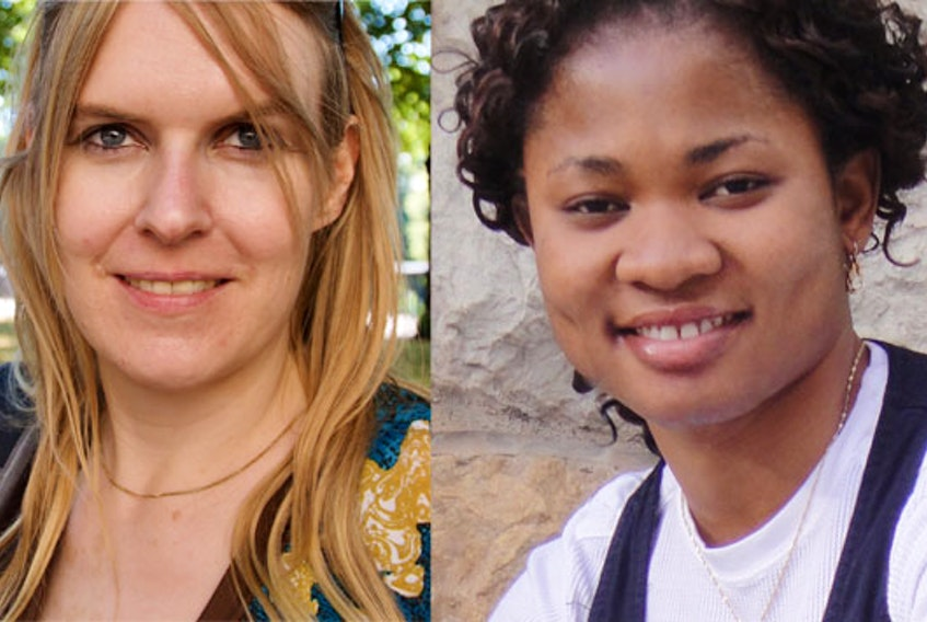 Psychologist Sandra Meier, left, is lead investigator for a study that has developed a cellphone app to determine the mental health effects of social distancing during the pandemic. Rita Orji is computer scientist and co-principal investigator in a project that developed a cellphone app for tracking and predicting social-distancing behaviours.  - Contributed