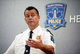 Chief Dan Kinsella of the Halifax Regional Police answers questions from reporters at HRP headquarters on Gottingen Street on Thursday, Oct. 10, 2019. Kinsella addressed the three recent police officer arrests.