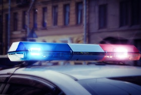 Charlottetown Police arrive at Cumberland St. on March 13,2021. 123rf photo