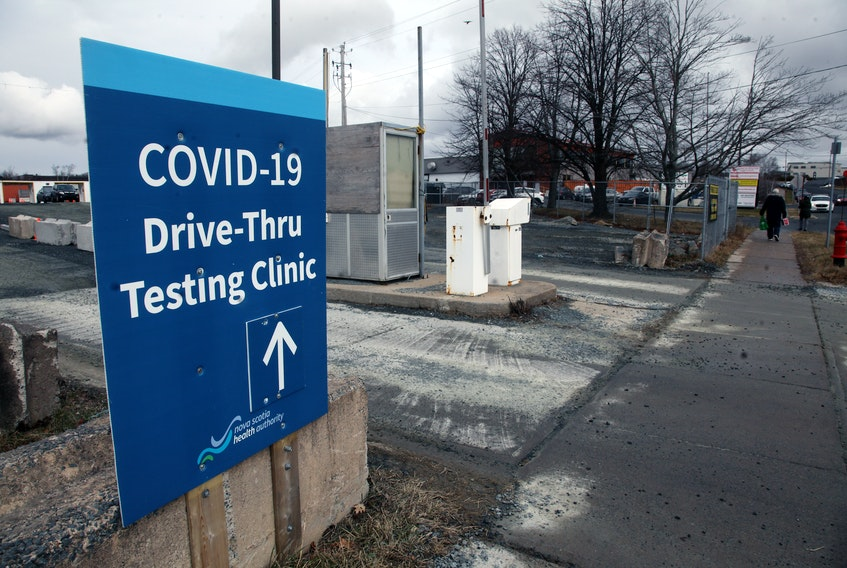 The COVID-19 drive-thru testing site behind Dartmouth General  ERIC WYNNE/Chronicle Herald