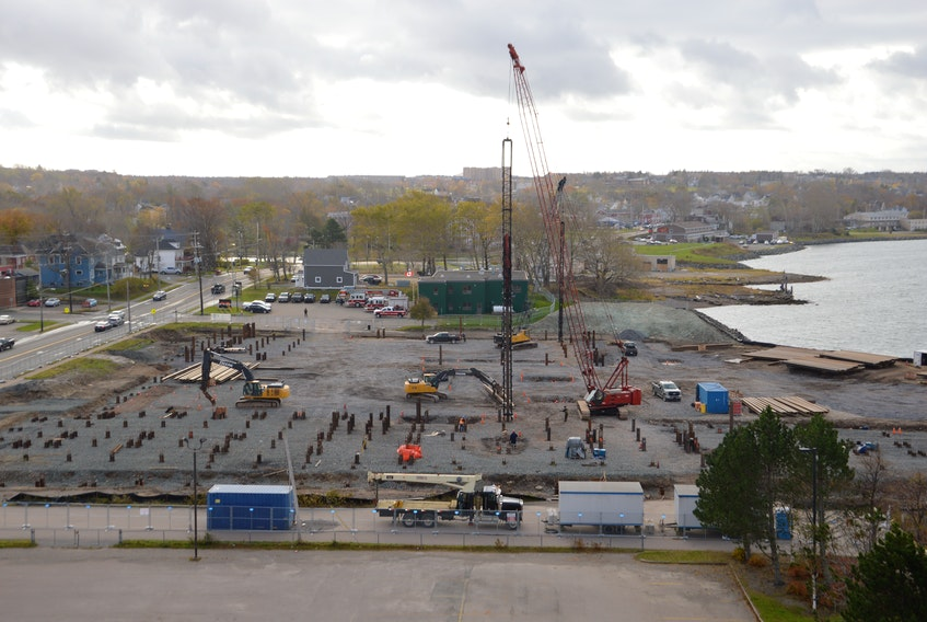 Construction at the new Nova Scotia Community College campus on the Sydney waterfront in November 2020. Cape Breton contractors and those employed in the various construction trades are preparing for several busy years of work building expansions on to the Cape Breton Regional Hospital, new health care centres in New Waterford and North Sydney, as well as other public and private sector projects. CAPE BRETON POST