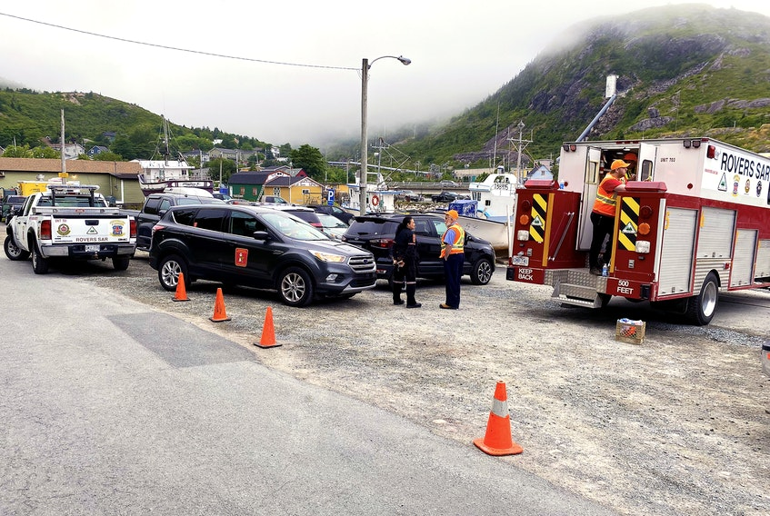 An injured hiker had to be carried about one-and-a-half kilometres off the East Coast Trail Saturday after he broke his leg on the trail south of Petty Harbour.