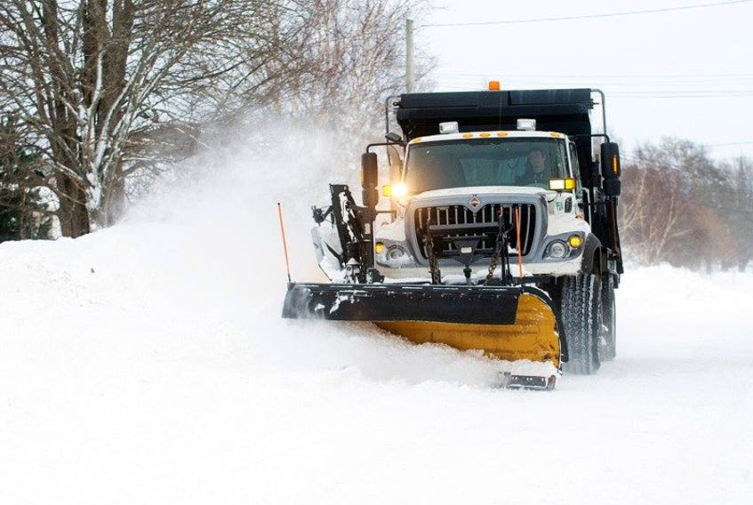 A City of Charlottetown plow clears Spring Park Road last winter after a major blizzard left more than 70 centimetres of snow on the ground. The city's winter parking restrictions go into effect on Sunday, Nov. 15 and exist to allow snow-clearing and de-icing equipment to work more efficiently.