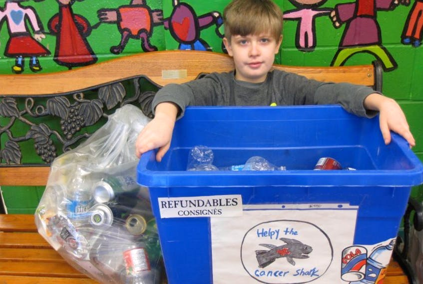 This Port Williams Elementary School student has a mission. Jack Collins is honouring his late father by raising funds for cancer research.